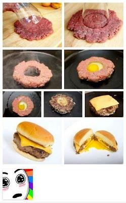 Como cocinar hamburguesa con huevo en medio