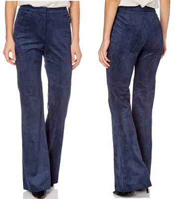 pantalon flare para mujer en color azul