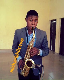 Nigerian saxophonist playing We go dey hail, hail your name
