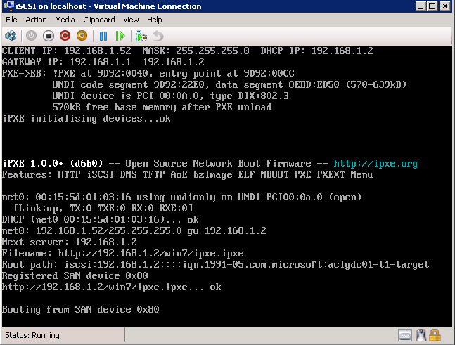 Trentent -- One and Only : iSCSI, iPXE, Microsoft iSCSI