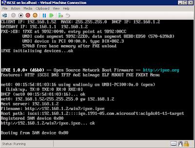 iSCSI, iPXE, Microsoft iSCSI Software Target, Microsoft DHCP