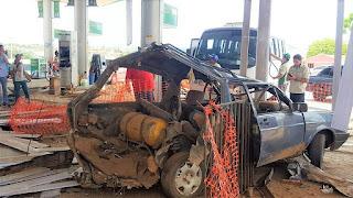 Veículo explode enquanto abastecia gás natural em posto de Currais Novos RN
