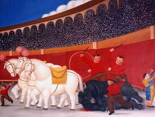 Arrastando - Fernando Botero e suas pinturas ~ O pintor das figuras volumosas