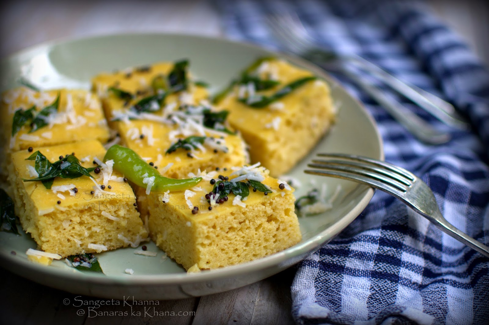 home made instant dhokla ; the gujrati steamed bread