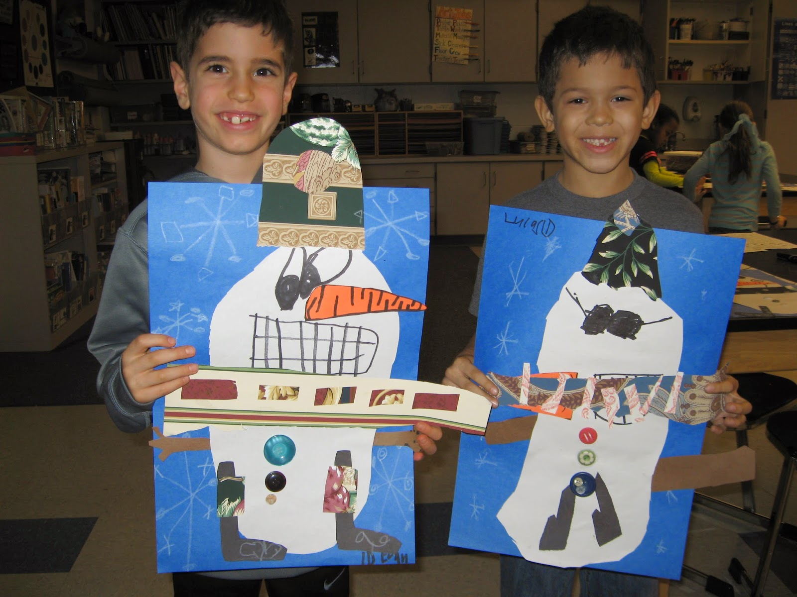 Jamestown Elementary Art Blog 1st Grade Snoval Collages