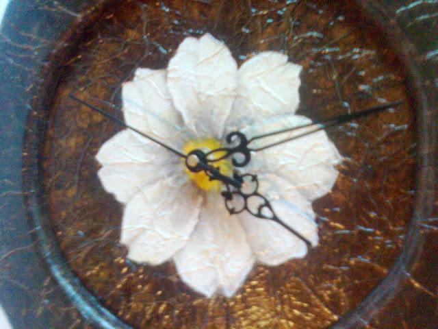 Reloj Pintura decorativa sobre madera Falso acabado