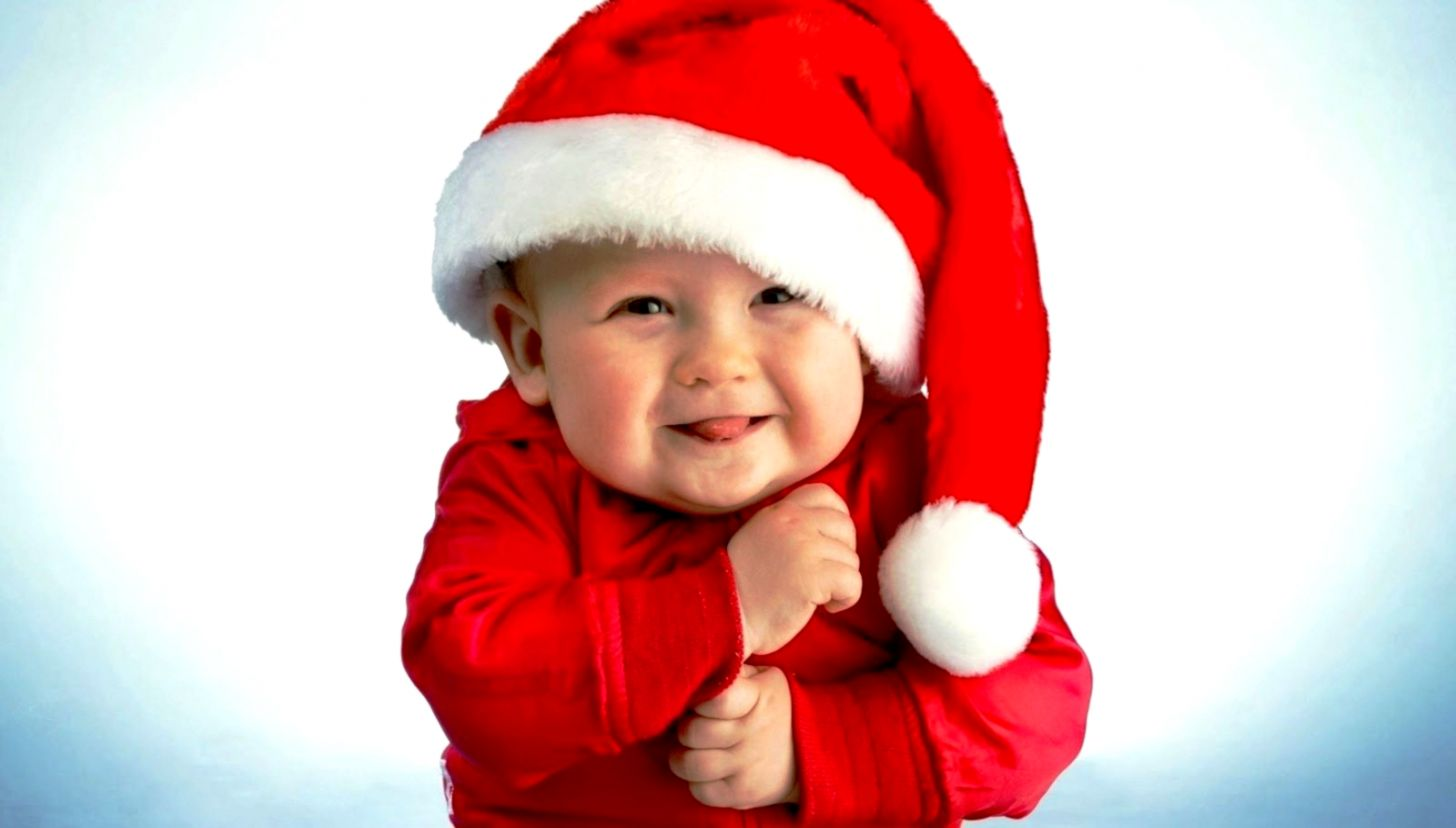 Christmas Baby Images Hd.Cute Baby Pictures With Cap Christmas Wallpapers Hd Ucox