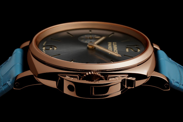 PANERAI LUMINOR DUE 3 DAYS ORO ROSSO lado blog debajo del reloj