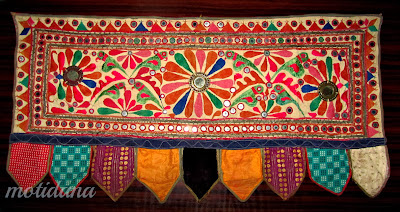 Vintage Indian embroidery, Toran from Gujarat