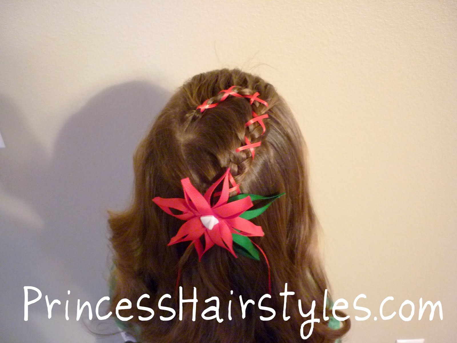 Sensational Candy Cane French Braid With Ribbon Hairstyles For Girls Short Hairstyles For Black Women Fulllsitofus