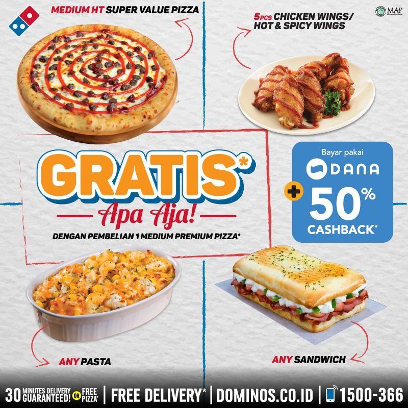 Promo Dominos Pizza Terbaru Gratis Apa Saja Setiap Pembelian Medium Premium Pizza Harga Diskon