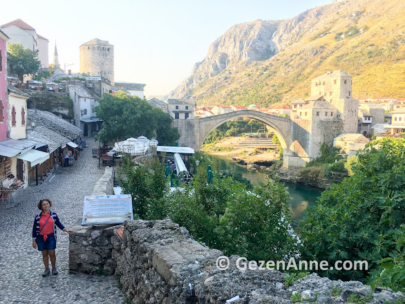 Mostar Köprüsü ve Mostar sokakları, Bosna Hersek