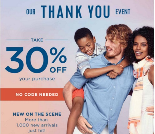 Old Navy Thank You Event 40% Off Promo Code