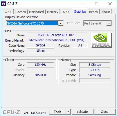 MSI GE73 Raider 8RF GPU Information