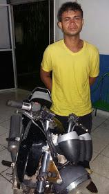 Jovem é preso com moto roubada no povoado Água Rica em Anapurus