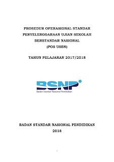Jadwal USBN Tahun Pelajaran 2017-2018 SD, SMP, SMA, SMK dan yang Sederajat