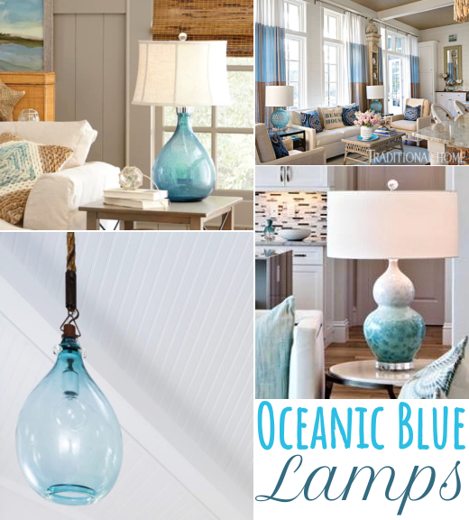Ocean Blue Lamps and Lighting Design Ideas