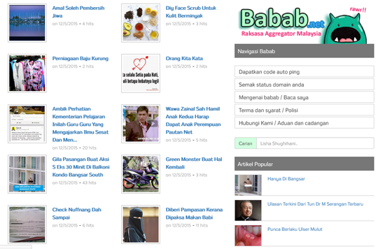 Ping Busuk Kini Dikenali Babab.net