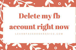 Delete my fb account right now - Deactivate Facebook!!