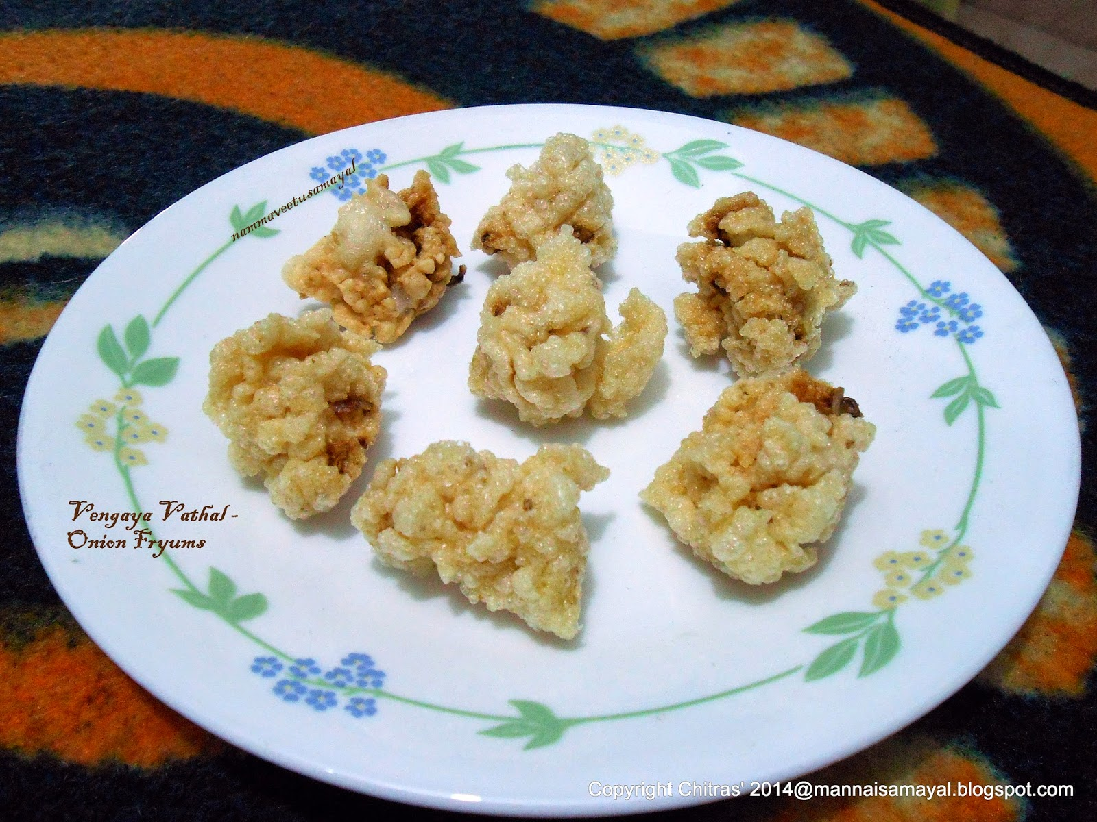 Vengaya Vathal [ Onion Fryums ]