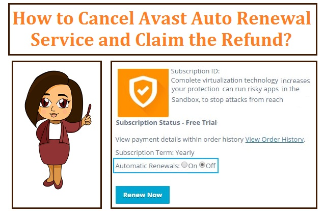how to disable avast auto renewal
