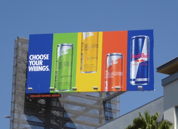 Red Bull Choose your wings billboard