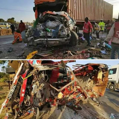 36 people killed, 18 injured after bus collides with truck on highway in Kenya