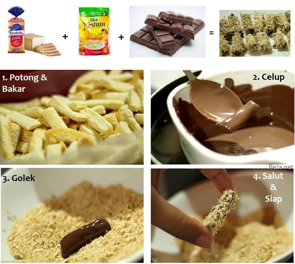 Jejari Roti Coklat Nestum