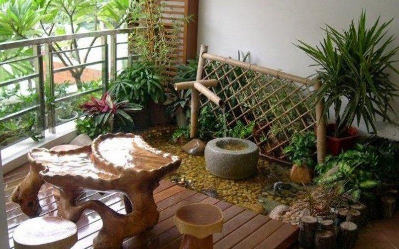 taman belakang rumah minimalis lahan sempit yang bagus