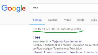 """hasil pencarian kata """"Free"""" di Google"""