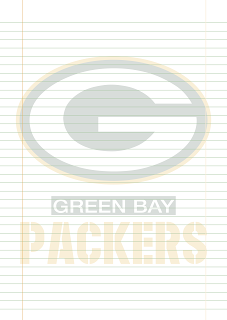 Papel Pautado Green Bay Packers PDF para imprimir na folha A4