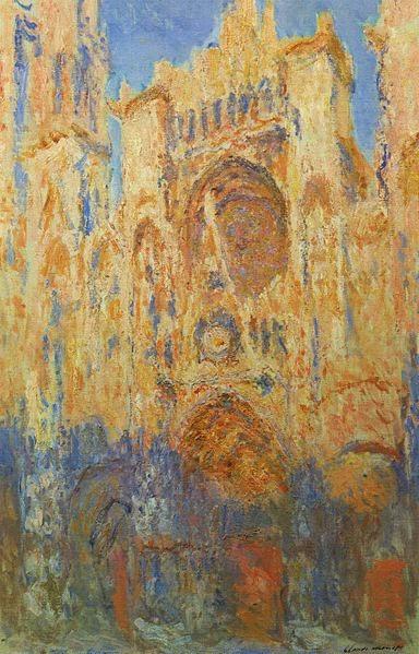 Catedral de Rouen pintada por Monet
