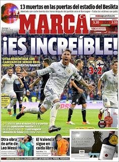 portada Marca gol de Ramos 11 12 2016