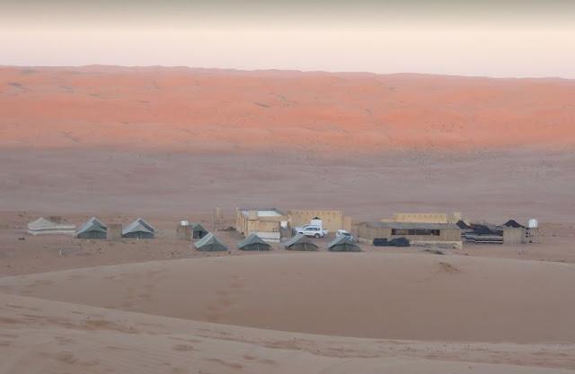 rustic bedouin desert camp