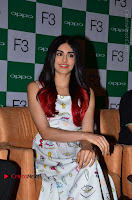 Bollywood Actress Adah Sharma Pos in White Printed Short Dress at OPPO F3 Plus Selfie Expert Mobile Launch .COM 0029.jpg