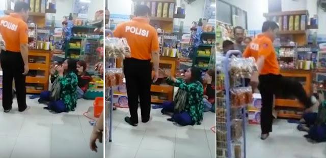 Kronologi AKBP Yusuf Tendang Wajah Ibu Pencuri di Minimarket