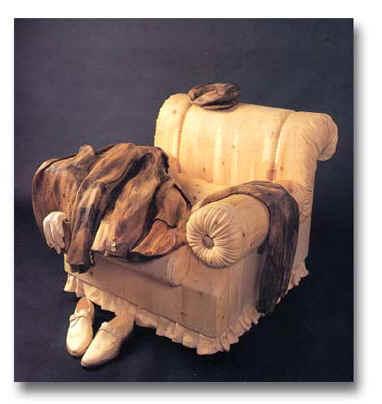 дерево, резьба по дереву, творчество, искусство, мастерство, из дерева, интерьер, предметы интерьера, скульптуры из дерева, резчики, реэьба, удивительное, Ливио Де Марчи, Бкратино, Пиноккио, вещи из дерева, итальянские мастера, одежда из дерева, машина из дерева, скатерть из дерева, транспорт из дерева, шляпа из дерева, Дом для Буратино. Ливио Де Марчи и его удивительные творения