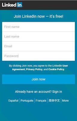 Cara Mendaftar LinkedIn