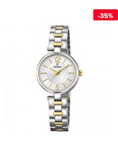 Ceas dama elegant auriu-argintiu Festina Mademoiselle F20312-1a