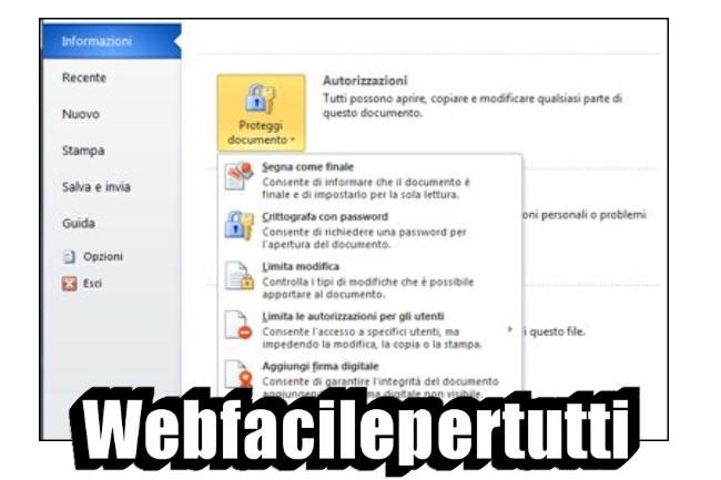 Come proteggere un documento word con password
