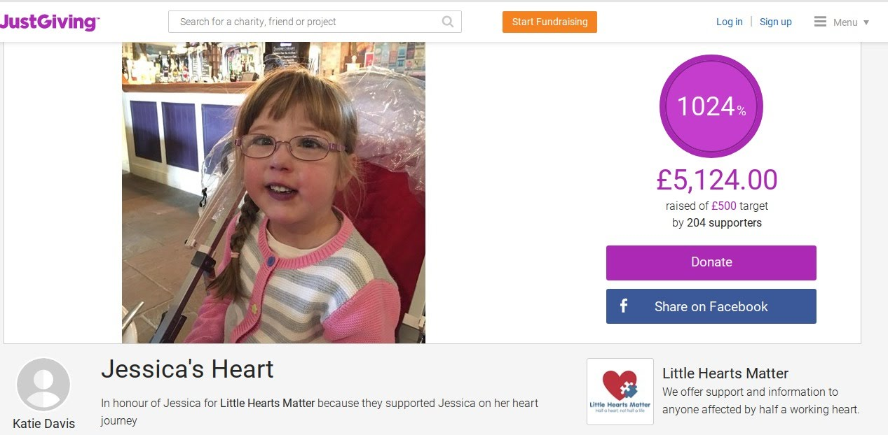 , In Memory of Jessica- Little Hearts, Big Love ❤