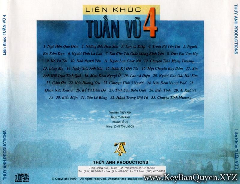 CD nhạc Liên Khúc Tuấn Vu (1989)