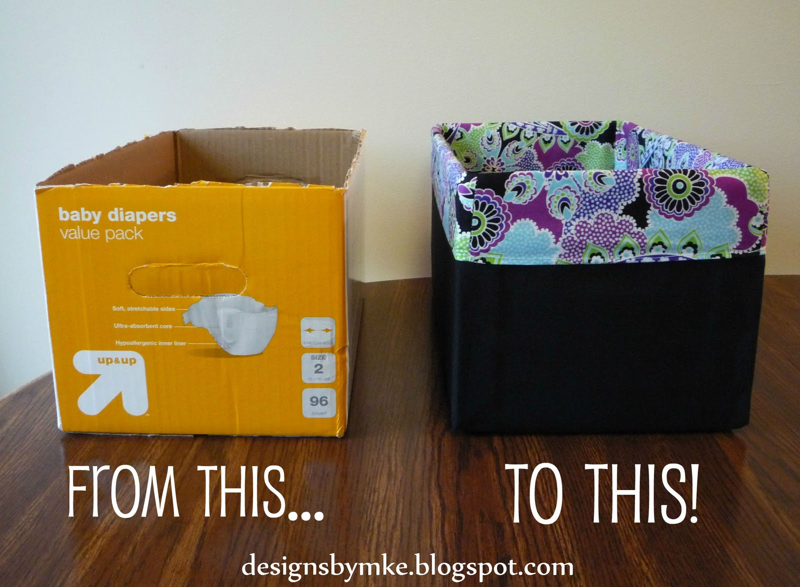 mandy 39 s krafty exploits lined canvas diaper box. Black Bedroom Furniture Sets. Home Design Ideas