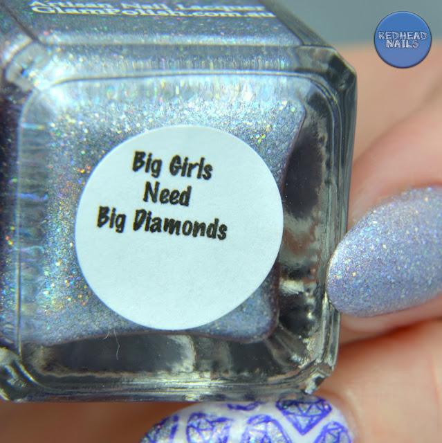 "Glam Polish ""Big Girls Need Big Diamonds"" swatch"