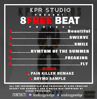 KPR Studios  Presents - The 8Free Beat Project | Prod. By King Prestige