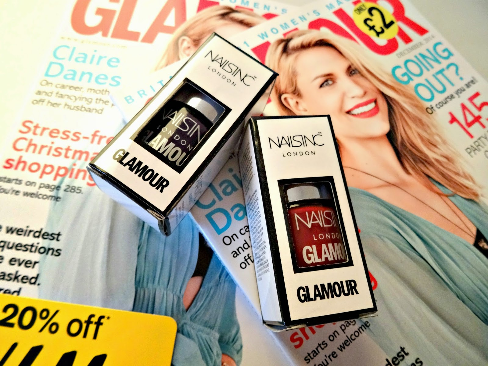 Glamour December 2014 issue review nail polish freebie