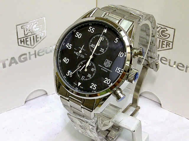 Jam Tag Heuer Space X Silver Black White