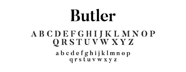 Butler font freebie