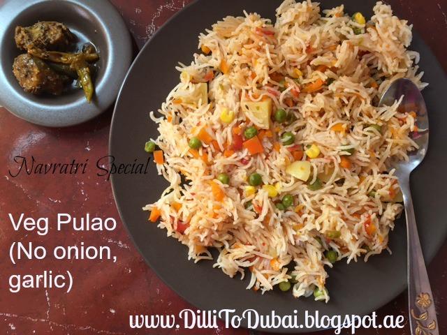 Dilli to dubai a culinary odyssey veg pulao no onion garlic veg pulao no onion garlic forumfinder Image collections