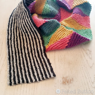 Long and Short Scarf Free Crochet Pattern by Susan Carlson of Felted Button